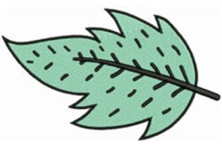 Teal Leaf Autumn Embroidery Design By designsbymira