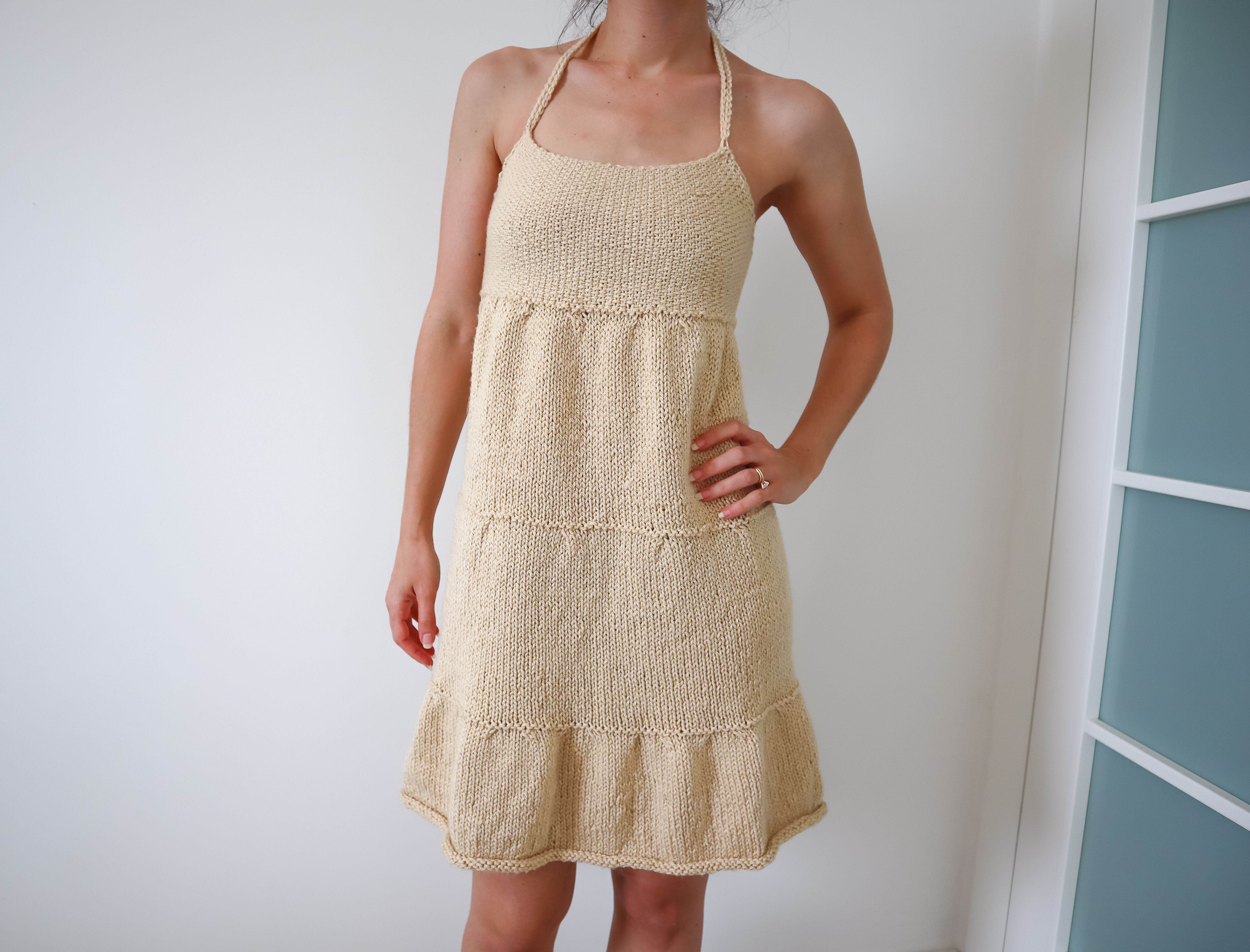 Download Free Three Tiered Dress Knitting Pattern Grafico Por Thesnugglery for Cricut Explore, Silhouette and other cutting machines.