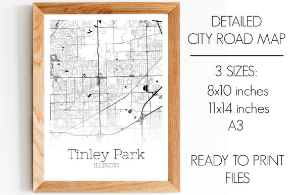 Download Free Tinley Park Illinois City Map Graphic By Svgexpress Creative for Cricut Explore, Silhouette and other cutting machines.