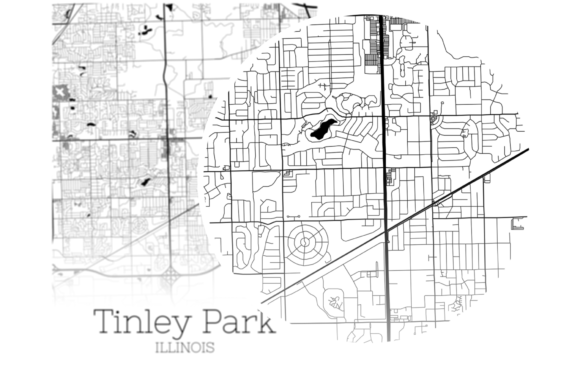Download Free Tinley Park Illinois City Map Graphic By Svgexpress Creative Fabrica for Cricut Explore, Silhouette and other cutting machines.