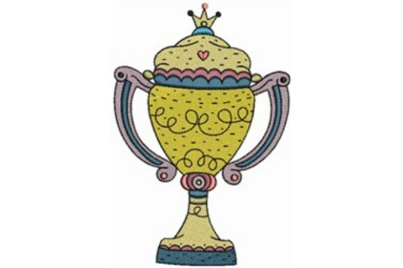 Trophy Prize Hobbies & Sports Embroidery Design By designsbymira