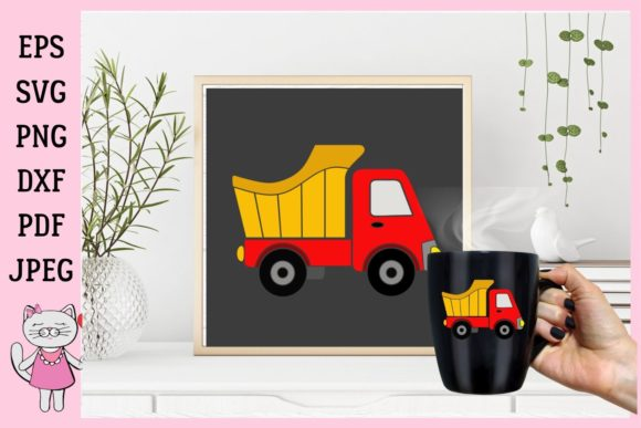 Download Free Truck Toy For Boy Graphic By Magic World Of Design Creative for Cricut Explore, Silhouette and other cutting machines.