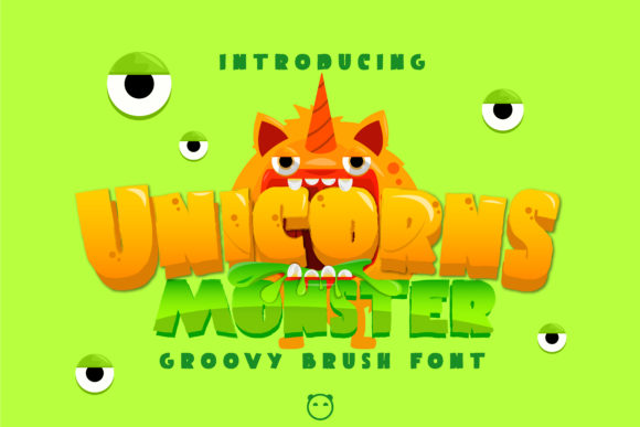 Print on Demand: Unicorns Monster Display Font By Gens Creatif Store