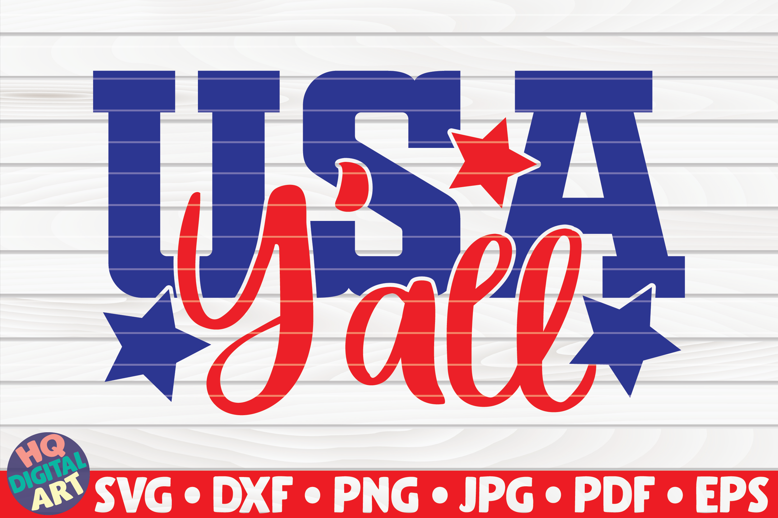 Download Free Usa Y All 4th Of July Quote Graphic By Mihaibadea95 Creative for Cricut Explore, Silhouette and other cutting machines.