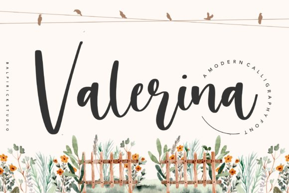 Print on Demand: Valerina Script & Handwritten Font By Balpirick