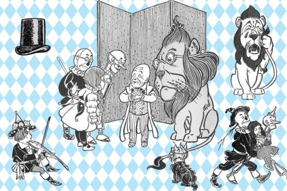 Print on Demand: Vintage Wizard of Oz Clip Art Graphic Illustrations By Digital Curio - Image 3