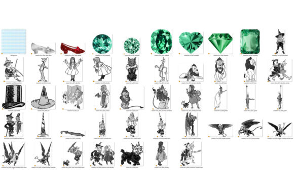 Print on Demand: Vintage Wizard of Oz Clip Art Graphic Illustrations By Digital Curio - Image 4