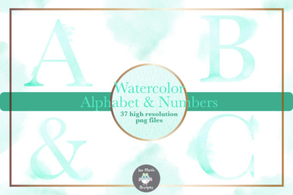 Watercolor Alphabet Clipart, Font Graphic Illustrations By thejaemarie