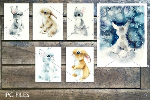 Watercolor Fluffy Wild Animals Graphic Illustrations By Мария Кутузова - Image 5