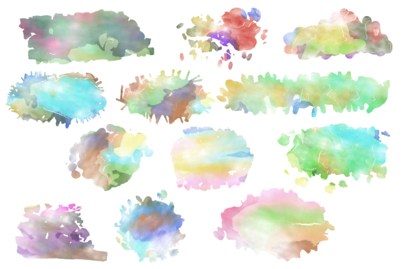 Print on Demand: Watercolor Ink Blots & Splashes Graphic Backgrounds By Prawny - Image 2