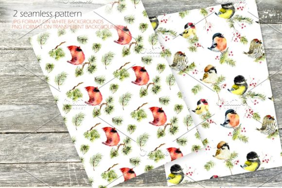 Download Free Watercolor Winter Birds Set Graphic By Mariya Kutuzova Creative for Cricut Explore, Silhouette and other cutting machines.