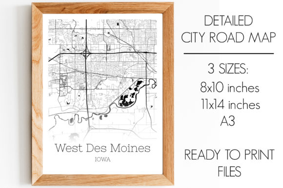 Print on Demand: West Des Moines Iowa City Map Graphic Photos By SVGExpress