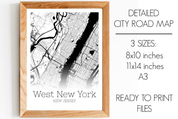 Download Free West New York New Jersey City Map Graphic By Svgexpress for Cricut Explore, Silhouette and other cutting machines.