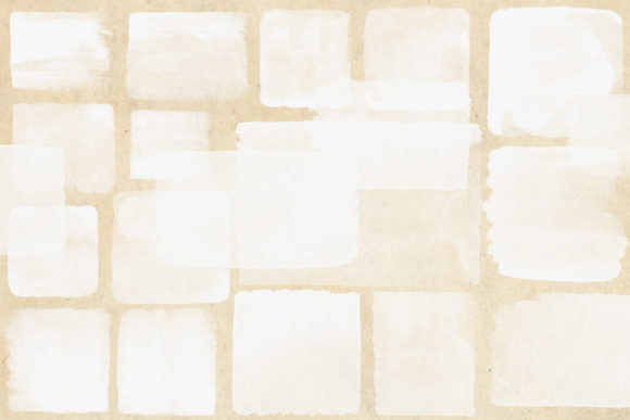 Print on Demand: White Watercolor Squares Clipart Graphic Illustrations By Digital Curio - Image 2