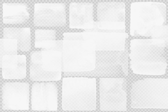 Print on Demand: White Watercolor Squares Clipart Graphic Illustrations By Digital Curio - Image 3