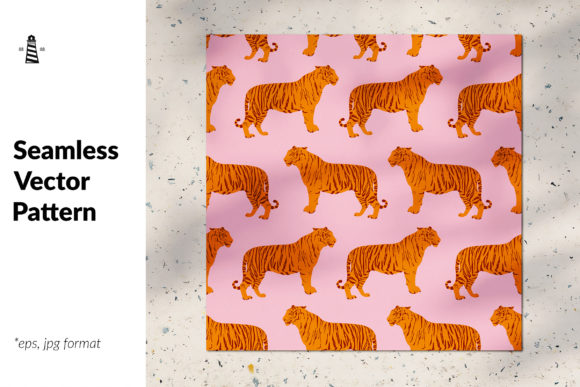 Download Free Wild Cat Seamless Pattern Graphic By Northseastudio Creative for Cricut Explore, Silhouette and other cutting machines.