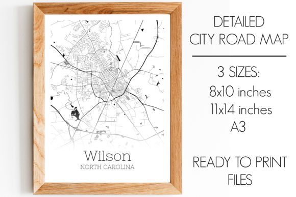 Print on Demand: Wilson North Carolina City Map Graphic Photos By SVGExpress