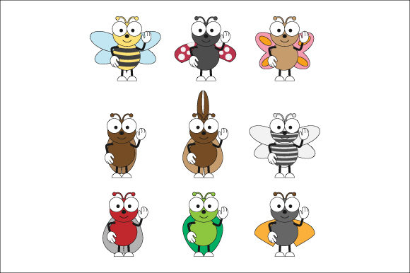 Download Free Funny Insect Graphic By Curutdesign Creative Fabrica for Cricut Explore, Silhouette and other cutting machines.