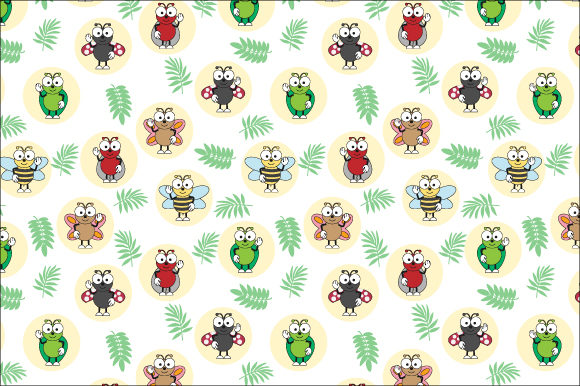 Print on Demand: Funny Insect Pattern Graphic Patterns By curutdesign