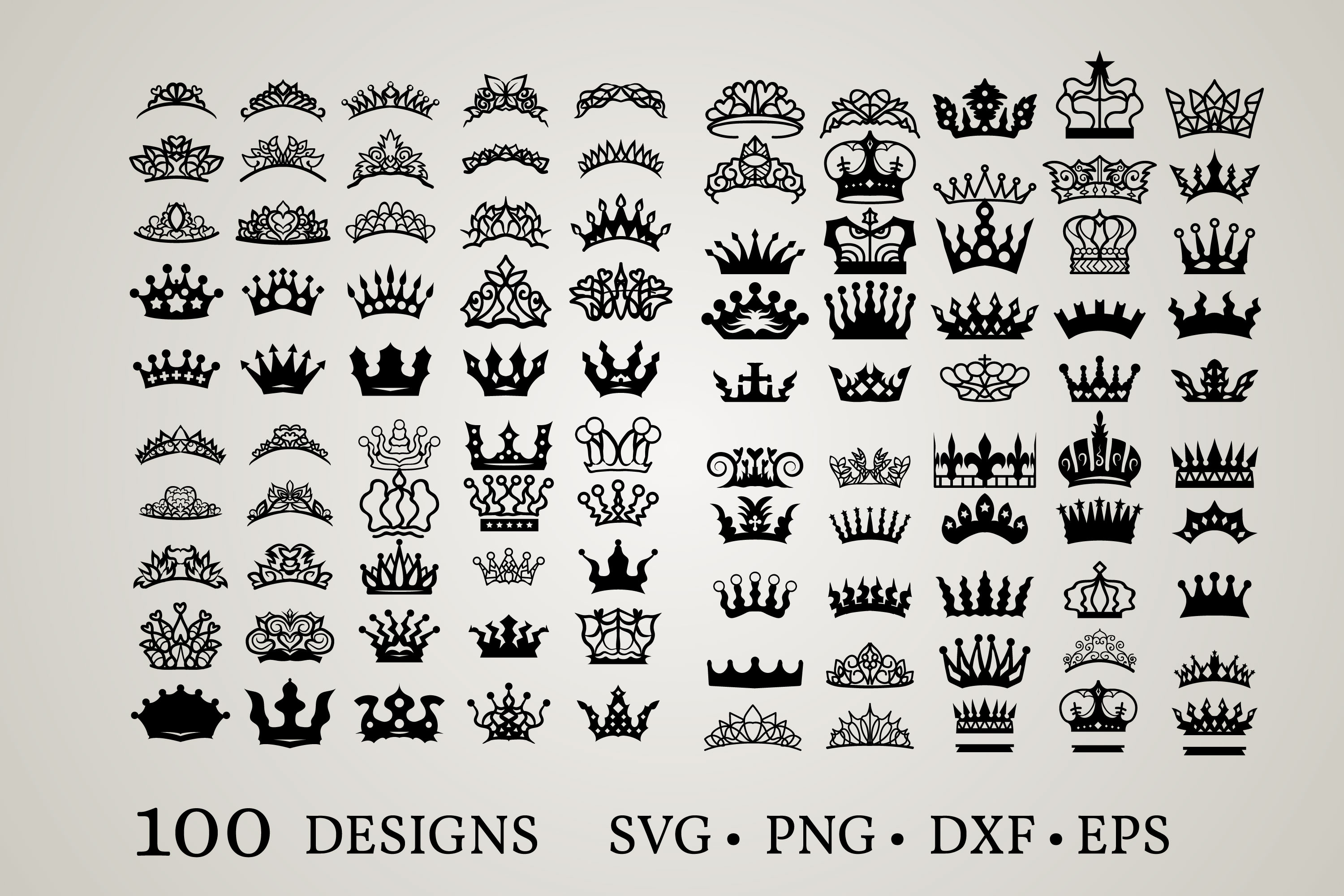 Download Free Princess Crown Graphic By Euphoria Design Creative Fabrica for Cricut Explore, Silhouette and other cutting machines.