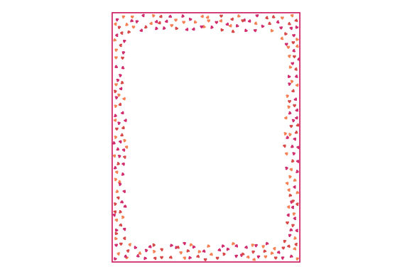 Hearts Frame Designs & Drawings Craft Cut File By Creative Fabrica Crafts