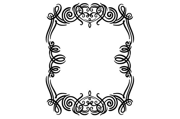 Swirls Frame Designs & Drawings Craft Cut File By Creative Fabrica Crafts - Image 1