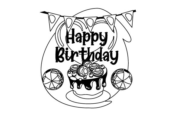 Happy Birthday Birthday Craft Cut File By Creative Fabrica Crafts - Image 2