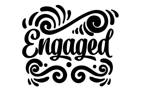 Engaged Wedding Craft Cut File By Creative Fabrica Crafts - Image 2