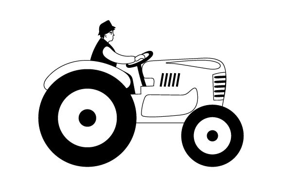 Farmer Riding Tractor Farm & Country Craft Cut File By Creative Fabrica Crafts - Image 2