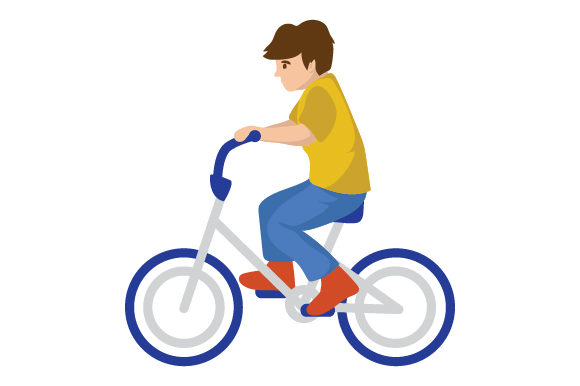 Boy Riding Bike Kids Craft Cut File By Creative Fabrica Crafts - Image 1