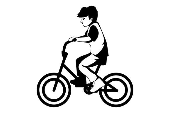 Boy Riding Bike Kids Craft Cut File By Creative Fabrica Crafts - Image 2