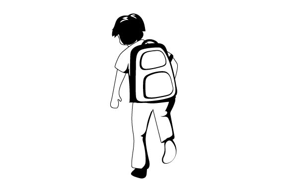 Boy Running with Backpack Kids Craft Cut File By Creative Fabrica Crafts - Image 2