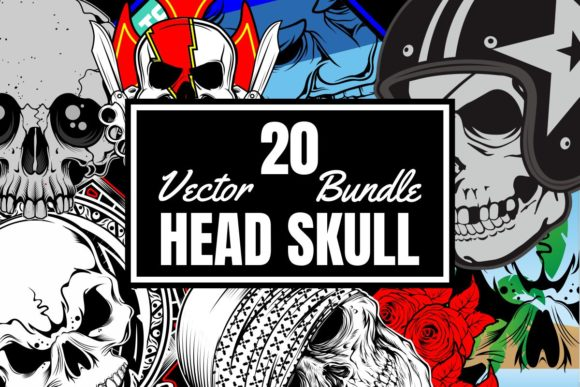 20 Head Skull Bundle  By Epic.Graphic