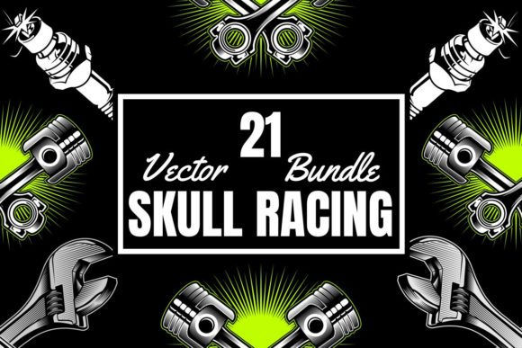 21 Skull Racing Bundle  By Epic.Graphic