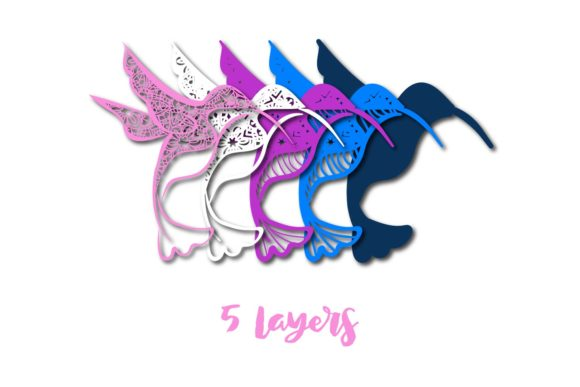 Download Free 3d Multi Layer Hummingbird Cut File Graphic By Sintegra for Cricut Explore, Silhouette and other cutting machines.