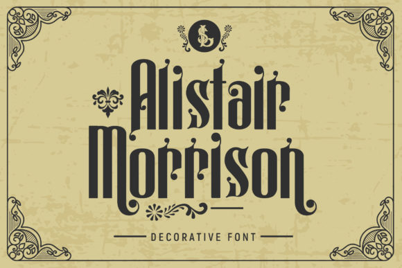 Print on Demand: Alistair Morrison Display Font By gumacreative