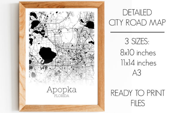 Download Free Apopka Florida City Map Graphic By Svgexpress Creative Fabrica for Cricut Explore, Silhouette and other cutting machines.
