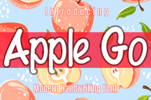 Print on Demand: Apple Go Script & Handwritten Font By Patrick Design