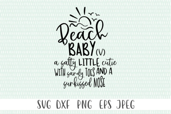 Print on Demand: Beach Baby (V) - Summer Girls Graphic Crafts By Simply Cut Co