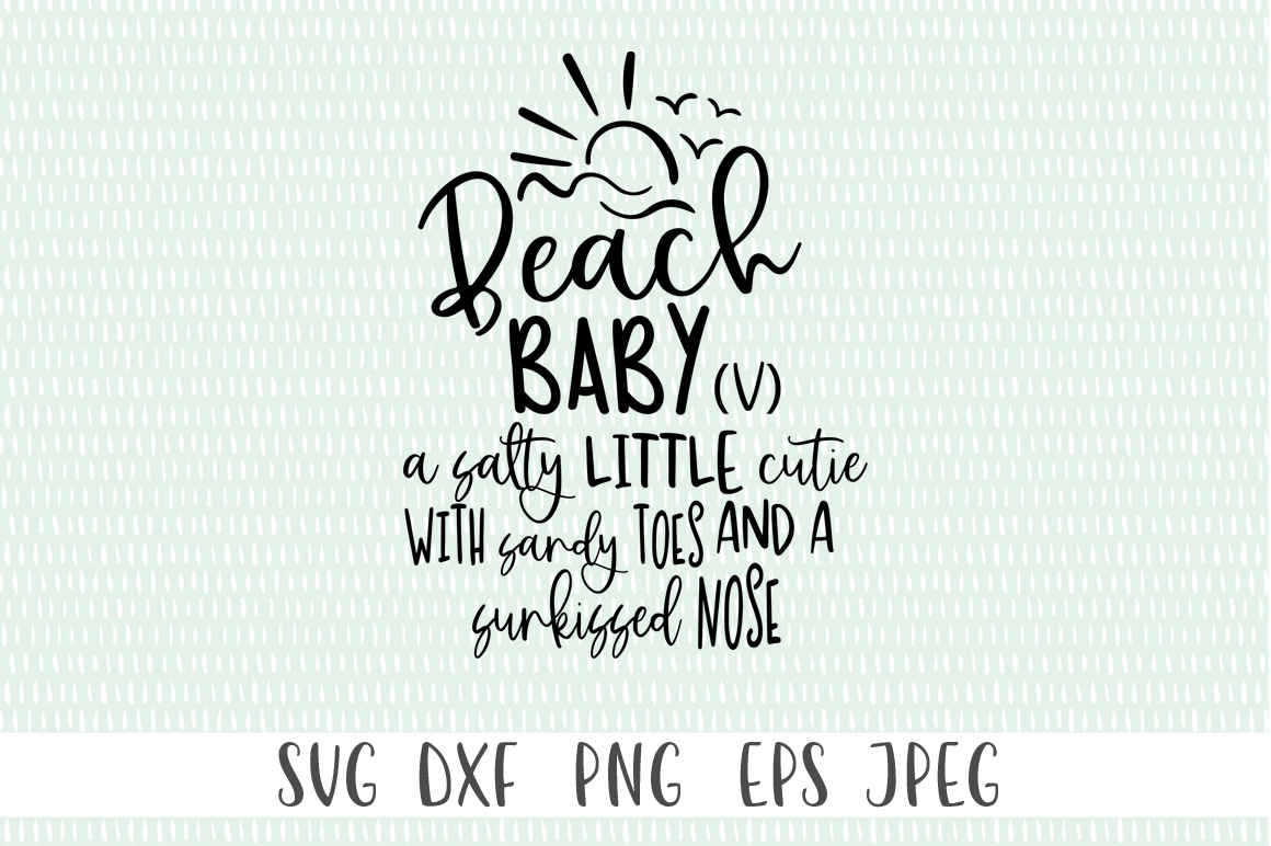 Download Free Beach Baby V Summer Girls Graphic By Simply Cut Co for Cricut Explore, Silhouette and other cutting machines.