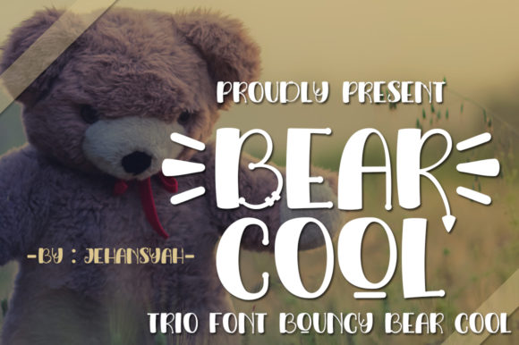 Download Free Bear Cool Font By Jehansyah251 Creative Fabrica for Cricut Explore, Silhouette and other cutting machines.