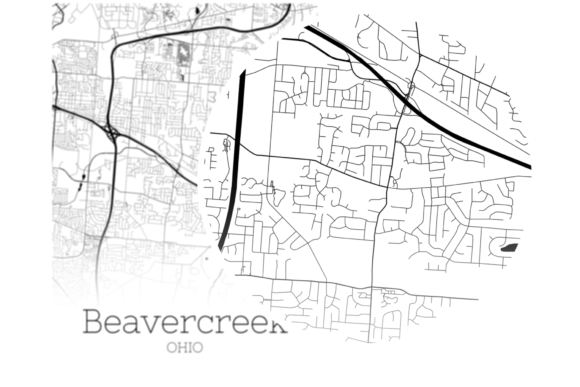 Download Free Beavercreek Ohio City Map Graphic By Svgexpress Creative Fabrica for Cricut Explore, Silhouette and other cutting machines.