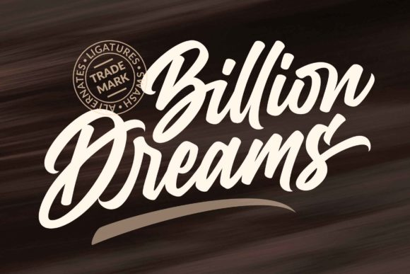 Print on Demand: Billion Dreams Script & Handwritten Font By Subectype