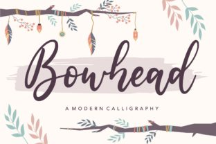 Download Free Bowhead Font By Balpirick Creative Fabrica for Cricut Explore, Silhouette and other cutting machines.