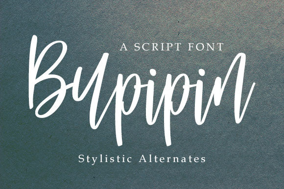 Print on Demand: Buppin Script & Handwritten Font By dataibayt