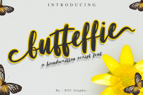 Print on Demand: Butteffie Script & Handwritten Font By dwikrisdiantoro9