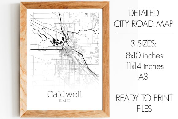 Print on Demand: Caldwell Idaho City Map Graphic Photos By SVGExpress