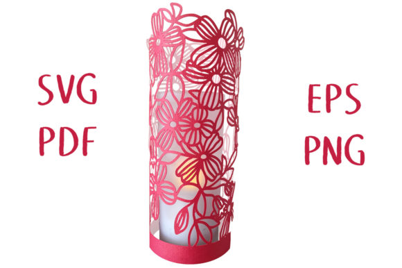 Download Free Clematis Floral Lantern 3d Cut File Graphic By Nic Squirrell for Cricut Explore, Silhouette and other cutting machines.