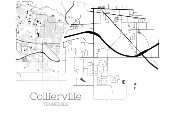 Download Free Collierville Tennessee City Map Graphic By Svgexpress Creative for Cricut Explore, Silhouette and other cutting machines.