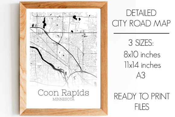 Print on Demand: Coon Rapids Minnesota City Map Graphic Photos By SVGExpress